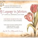 Custom artwork, a vintage style invitation